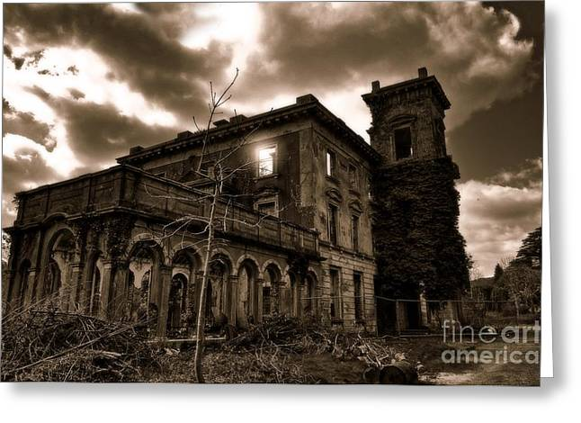 Mayfield Greeting Cards - Mayfield House Greeting Card by Barry Lennon