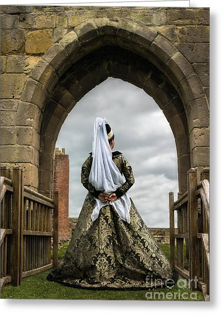 Medieval Greeting Cards - Medieval Lady Greeting Card by Amanda And Christopher Elwell