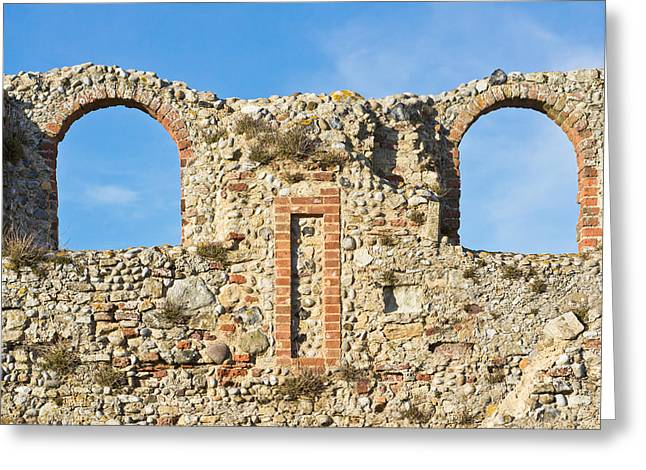 Old Relics Greeting Cards - Medieval ruins Greeting Card by Tom Gowanlock