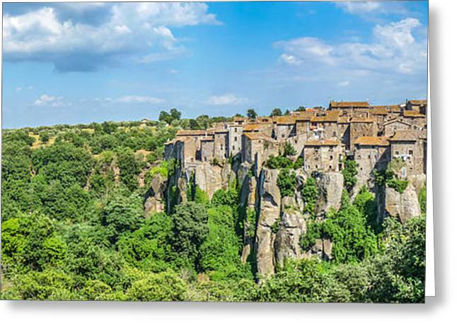 Historic Architecture Greeting Cards - Medieval town of Vitorchiano in Lazio, Italy Greeting Card by JR Photography