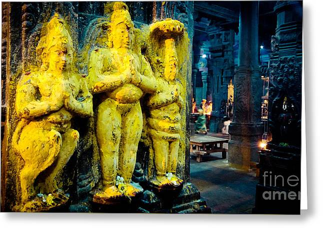 Meenakshi Temple Madurai India Greeting Card by Raimond Klavins