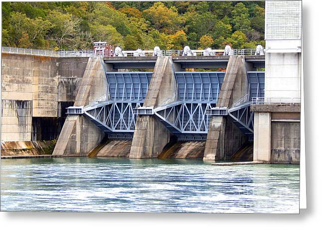 Tennessee River Greeting Cards - Melton Hill Dam Greeting Card by Phil Perkins
