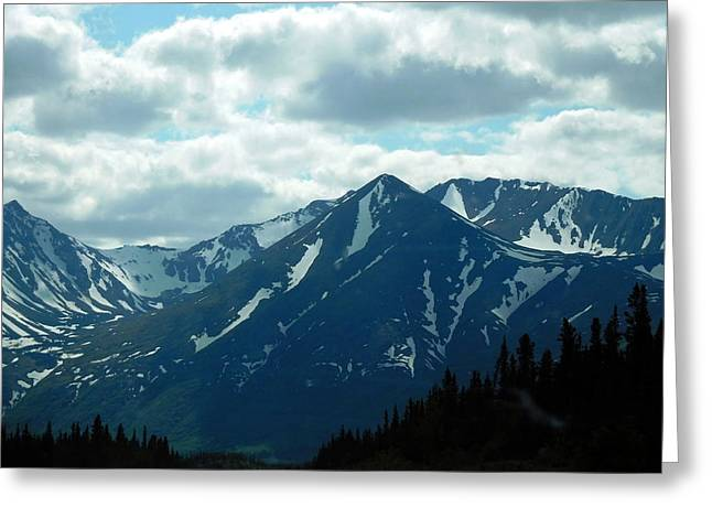 Snow Capped Greeting Cards - Alaska Memories Greeting Card by Diannah Lynch