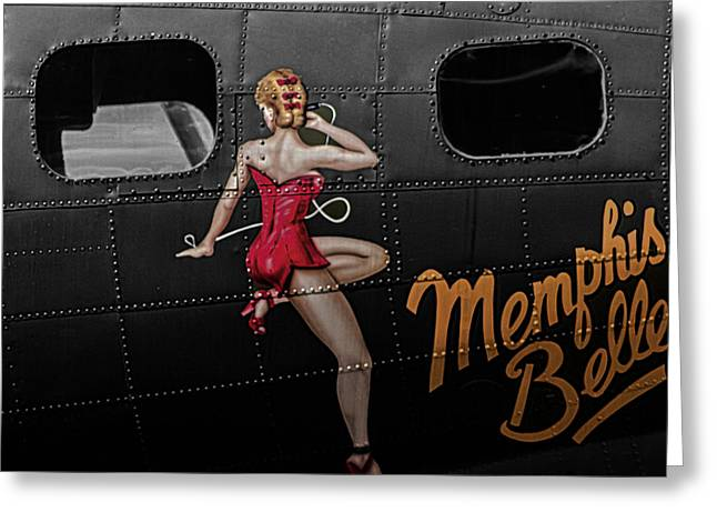 Omaha Greeting Cards - Memphis Belle Greeting Card by Martin Newman