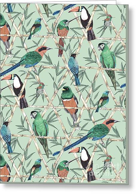 Menagerie Greeting Card by Jacqueline Colley