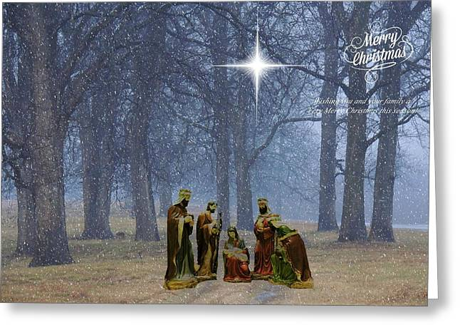 Star Of Bethlehem Greeting Cards - Merry Christmas Greeting Card by Delana Epperson