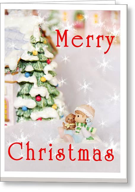 Merry Christmas Greeting Card by Masha Batkova