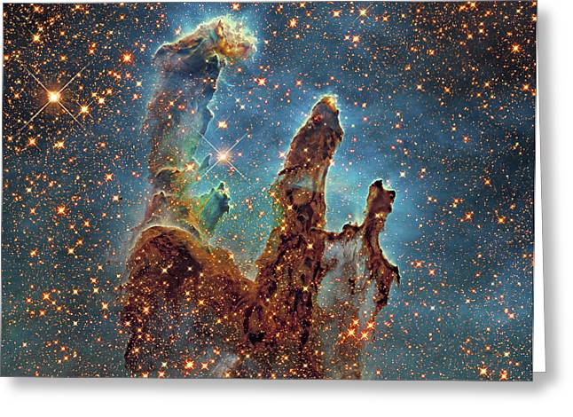 Eagle Nebula Greeting Cards - Messier 16, The Eagle Nebula In Serpens Greeting Card by Robert Gendler