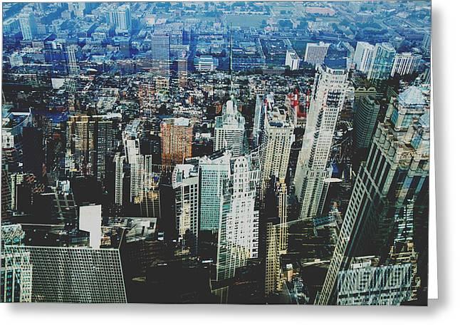 Urban Jungle Greeting Cards - Metropolis VIII Greeting Card by David Studwell