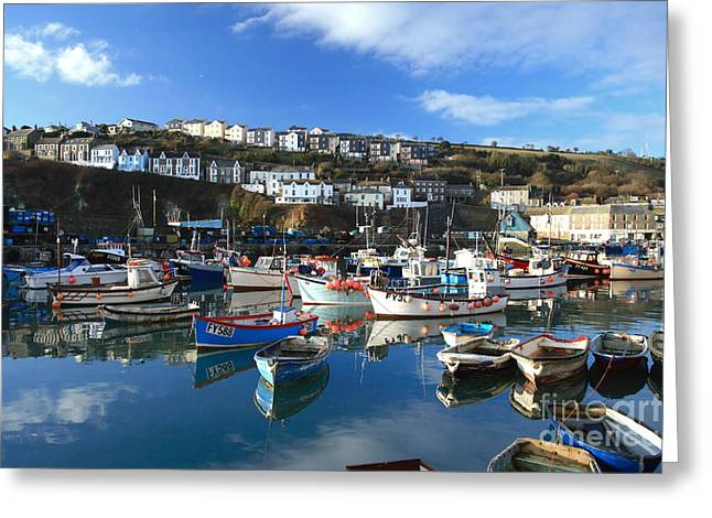 Mevagissey Greeting Card by Carl Whitfield