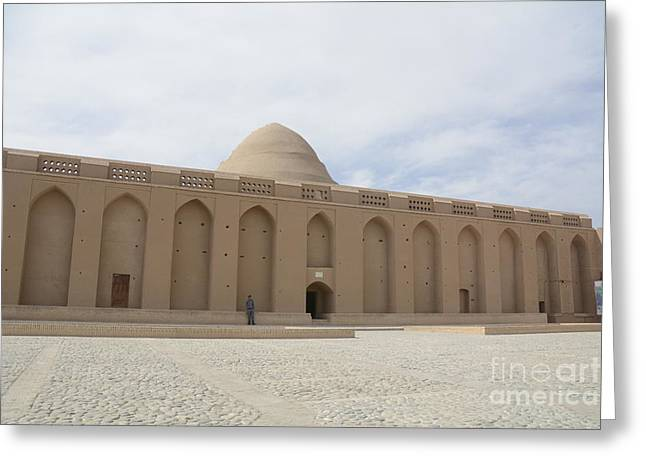 Ancient Ruins Greeting Cards - Meybod Ice House Yazd, Iran Greeting Card by Catherine Ursillo