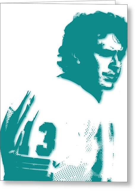 Marino Greeting Cards - Miami Dolphins Dan Marino Greeting Card by Joe Hamilton