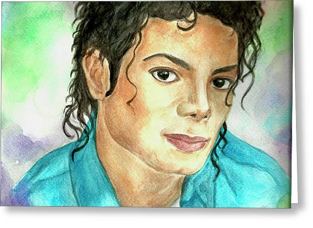Michael Jackson - The Way You Make Me Feel Greeting Card by Nicole Wang