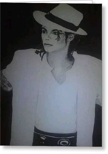 Michael Jackson Sketch Greeting Cards - Michael Jackson Greeting Card by Charlie Rayment