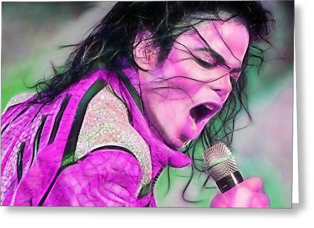 Home Greeting Cards - Michael Jackson Collection Greeting Card by Marvin Blaine