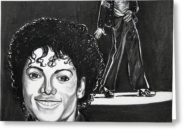 Michael Jackson II Greeting Card by Toni  Thorne