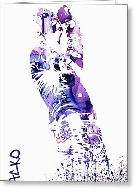 Michael Jackson Greeting Card by Sir Josef Social Critic - ART