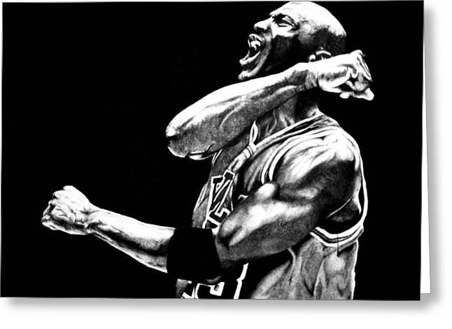 Michael Jordan Greeting Card by Jake Stapleton