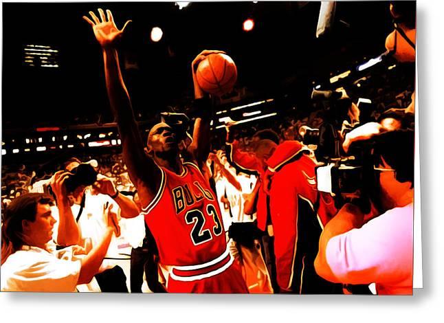 Michael Jordan Sweet Victory Greeting Card by Brian Reaves