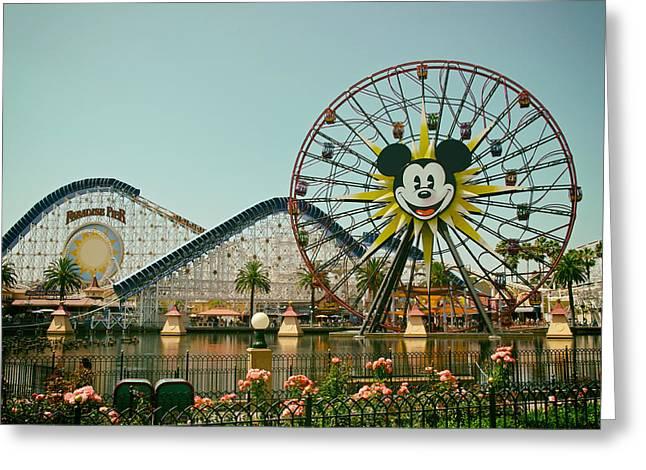 Mickeys Fun Wheel Greeting Cards - Mickeys World Greeting Card by Extremis