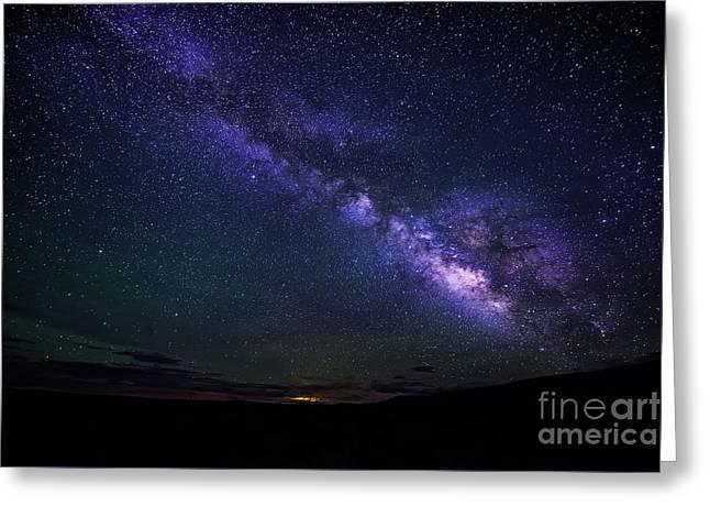 Twinkle Greeting Cards - Milky Way Greeting Card by Krzysztof Wiktor