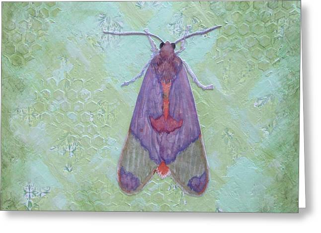 Sand Patterns Mixed Media Greeting Cards - Mint Moth Greeting Card by B Campbell