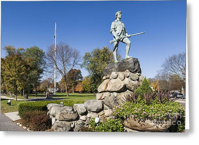 Minuteman Greeting Cards - Minute Man Sculpture Greeting Card by John Greim