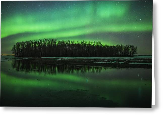 Edmonton Photographer Greeting Cards - Mirror Greeting Card by Mike Isaak