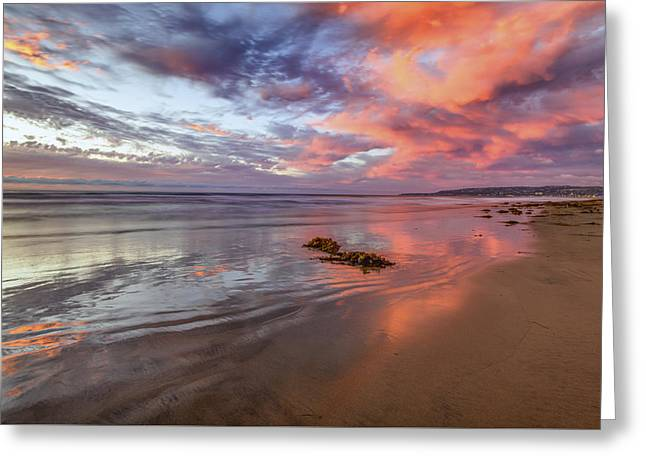 Beach Photography Greeting Cards - Mission Beach Sunset Greeting Card by Joseph S Giacalone