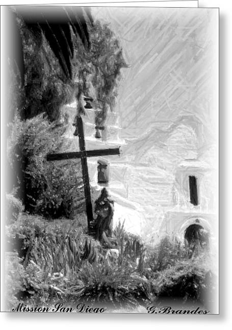 California Mission Greeting Cards - Mission San diego Greeting Card by Gary Brandes