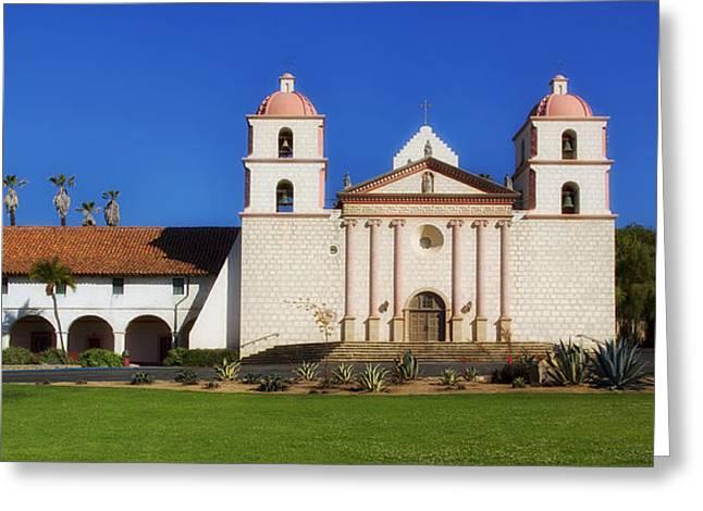 Mission Santa Barbara Greeting Cards - Mission Santa Barbara Greeting Card by Mountain Dreams