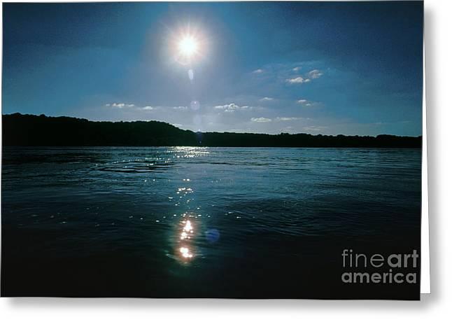Mississippi Photographs Greeting Cards - Mississippi River: Sunrise Greeting Card by Granger