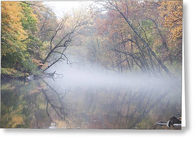 Greeting Cards - Mist on the Wissahickon Greeting Card by Bill Cannon