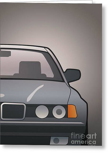 Modern Euro Icons Series Bmw E32 740i Greeting Card by Monkey Crisis On Mars