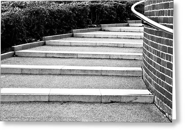 Stepping Stones Greeting Cards - Modern stone steps Greeting Card by Tom Gowanlock