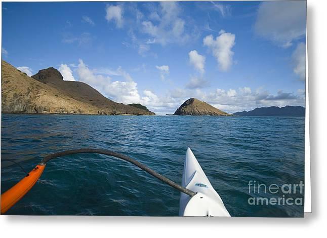 Mokulua Islands Greeting Card by Dana Edmunds - Printscapes