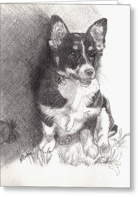 Nine Sisters Greeting Cards - Molly Greeting Card by Nancy Rucker