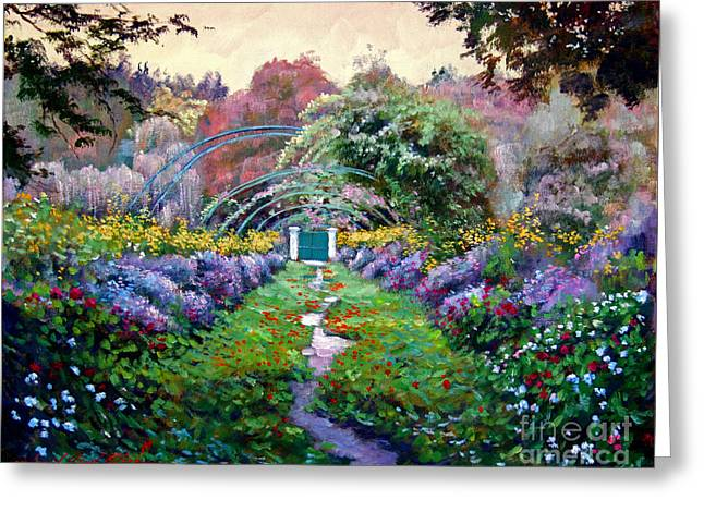 Giverny Greeting Cards - Monet Greeting Card by David Lloyd Glover