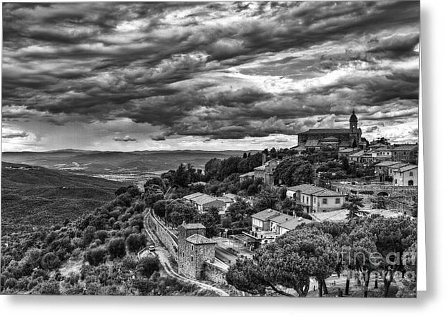Brunello Greeting Cards - Montalcino Greeting Card by Andreas Jancso
