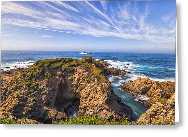 Peaceful Scene Greeting Cards - Monterey Coastline Greeting Card by Joseph S Giacalone