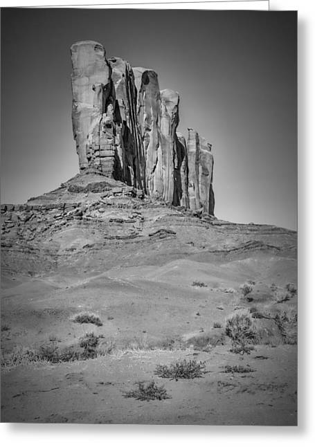 Geologic Greeting Cards - MONUMENT VALLEY Camel Butte black and white Greeting Card by Melanie Viola