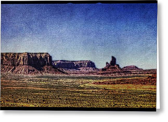The Plateaus Greeting Cards - Monument Valley View from Artists Point Greeting Card by Roger Passman