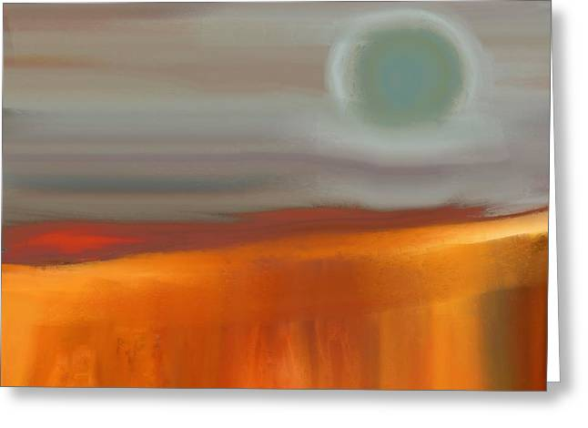 Abstract Expressionist Greeting Cards - Moon over the Canyon Greeting Card by Lenore Senior