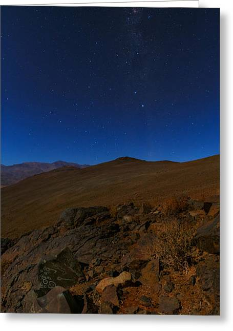 Moonlit Night Greeting Cards - Moonlit Night, Atacama Desert, Chile Greeting Card by Babak Tafreshi