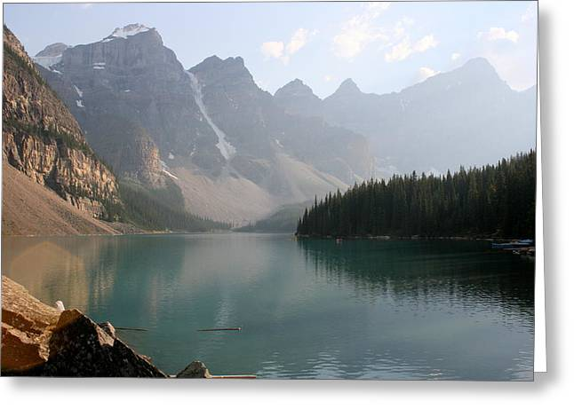 Fed Greeting Cards - Moraine Lake Greeting Card by Betty-Anne McDonald