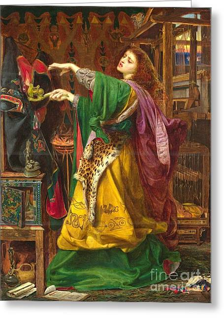 Morgan Le Fay Greeting Card by Frederick Sandys