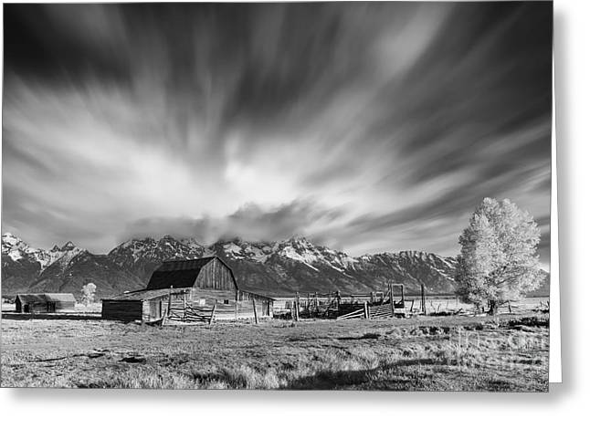 Wooden Building Greeting Cards - Mormon Row Barn, Grand Teton N.P Greeting Card by Henk Meijer Photography