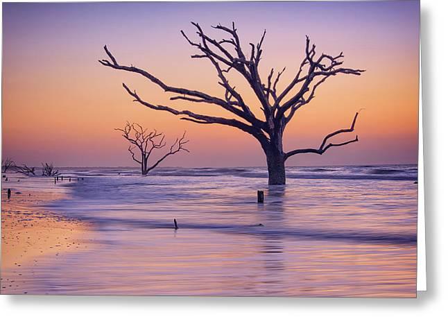 Morning At Botany Bay Plantation Greeting Card by Rick Berk