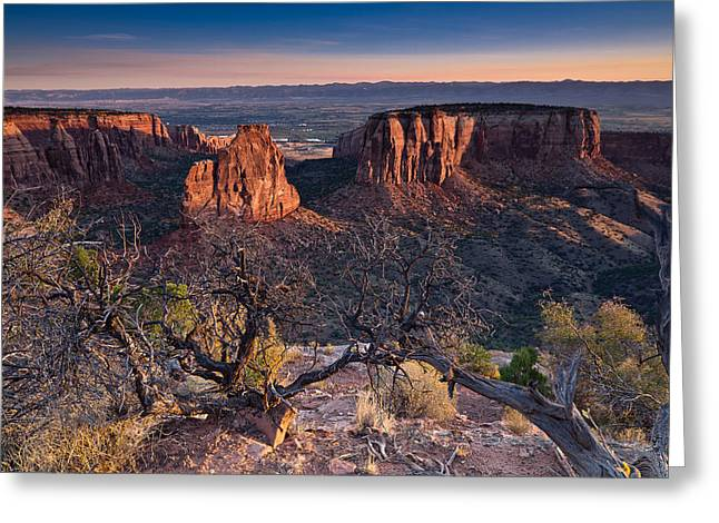 Colorado Plateau Greeting Cards - Morning at Colorado National Monument Greeting Card by Greg Nyquist