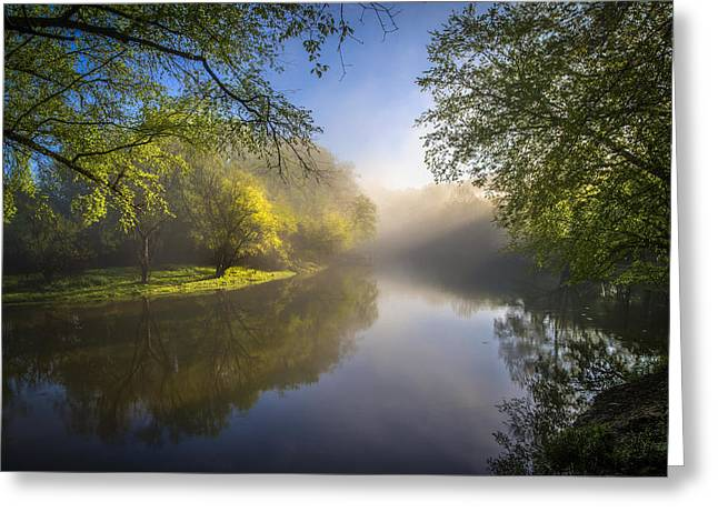 Tennessee Farm Greeting Cards - Morning Glow Greeting Card by Debra and Dave Vanderlaan